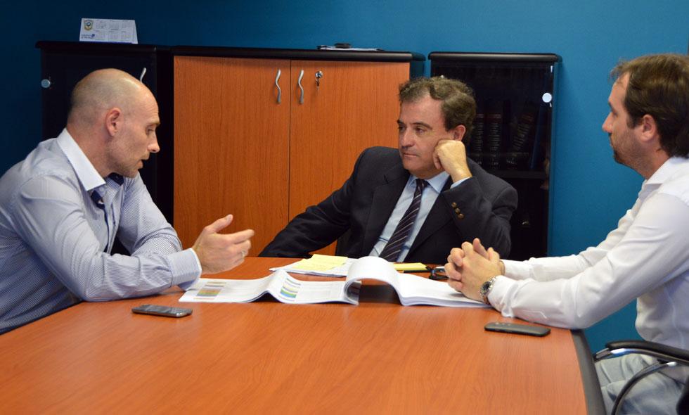 Con ministros y distintos funcionarios nacionales Pesatti encaminó gestiones para distintas obras en la ciudad